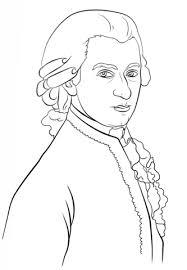 Disegno Di Mozart Da Colorare Disegni Da Colorare E Stampare Gratis