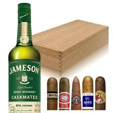 jameson caskmates ipa gift set with cigars