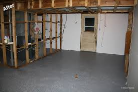 painted basement floorsGray Color Epoxy Basement Floor Paint For Basement After Remodel
