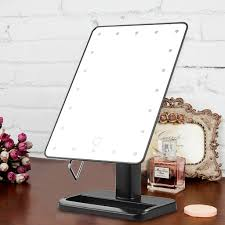 ovonni 10x magnifier led touch screen makeup mirror portable 20 leds lighted make up cosmetic mirror adjule vanity tabletop countertop