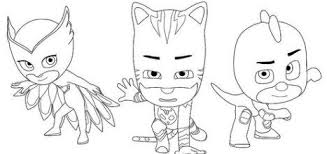 Pj Masks Coloring Pages Free 2019
