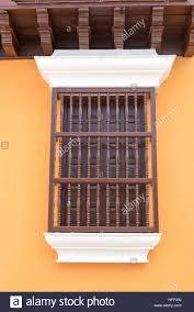 Window in spanish Door Santiago De Cuba Old Vintage Spanish Colonial Window With Wooden Bars On Front Alamy Spanish Colonial Window Stock Photos Spanish Colonial Window Stock