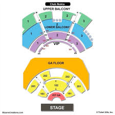 Nokia Center Seating Chart Park Theater Seat Online Charts Collection