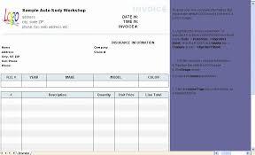 garage invoice template best invoice template excel from new garage invoice template excel