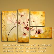 Modern Art Paintings For Living Room Living Room Paintings 4 Panel Hand Made Modern Canvas Picture Oil