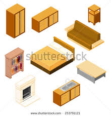 isometric office furniture vector collection. contemporary collection collection of isometric household furniture household house  furnishings with office furniture vector