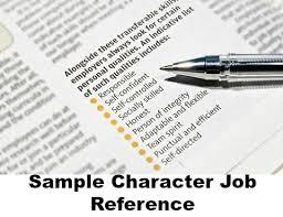 job reference character job reference