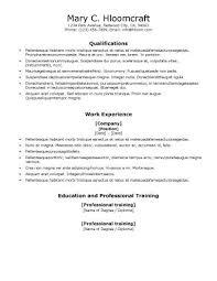Ats Resume Format