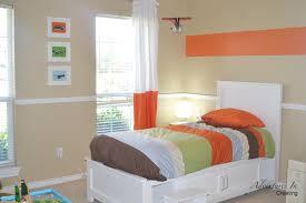 Orange Bedroom Curtains Best Orange Accent Wall Color Scheme Of Kids Tropical Bathroom