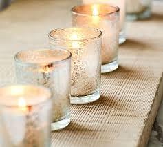 mercury glass votive candle set of 6