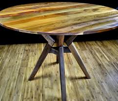 round walnut dining table modern