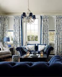 ds in laura ashley summer palace in this perfect blue and white living room