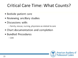 Critical Care Time Chart Cpt Coding For Emergency Departments Ppt Download
