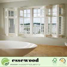 white wood interior push rod louvers window plantation shutter