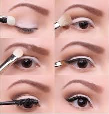 easy white eye makeup via