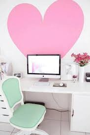 Girly Workspace With Love Wallpaper