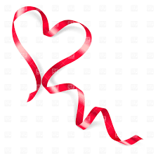 Red Ribbon Design Heart Made Of Red Ribbon On White Background Stock Vector Image