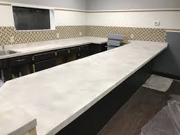 Concrete Overlay Countertops Diy Everything For White Concrete Countertops Direct Colorscom