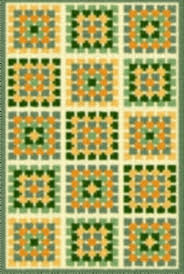 Latch Hook Rug Pattern Chart Granny Square And 50 Similar Items