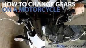 shift gears on a motorbike