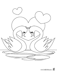 Small Picture Swan heart coloring pages Hellokidscom