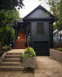 before after a portland victorian is painted black