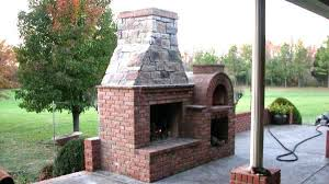 outdoor fireplace with pizza oven family outdoor fireplace and wood fired brick pizza oven outdoor fireplace