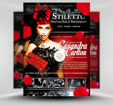 free flayers stiletto free restaurant singer flyer template flyerheroes