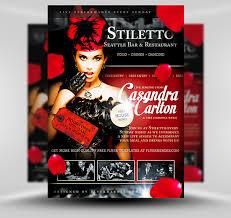 free flayers stiletto free restaurant singer flyer template flyerheroes