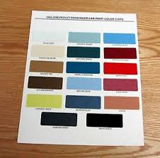 Chevy Stock Chart Details About 1955 Chevy Paint Chip Chart All Original Colors Usa Made