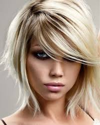 Vlasy A účesy Fotoalbum Dámské účesy Blond Blond Uces Polodlouhy