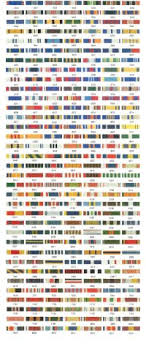 Us Army Service Ribbons Chart Us Army Awards And