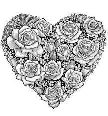 plicolor heart of roses coloring page printable pages and coloring books for grown ups