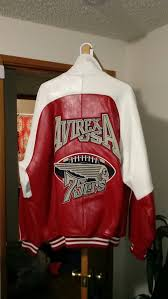avirex leather white red xl never worn jus sat in closet super nice and heavy got this from the bronx just never could fit it 600 firm