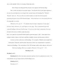 Title Page Apa Format Template Lovely Format Sixth Edition Template Apa 6th Style Example