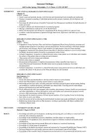 Vocational Rehabilitation Specialist Sample Resume Rehabilitation Specialist Resume Samples Velvet Jobs 22