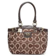 Coach Borough Monogram Medium Coffee Totes EHN