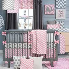 Amazon Swizzle Pink 4 Piece Baby Crib Bedding Set by Sweet