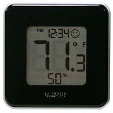 digital thermometer and hygrometer in black digital thermometer and hygrometer in black la crosse technology
