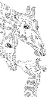 Small Picture Coloring pages Giraffe Printable Adult Coloring book Clip Art Hand