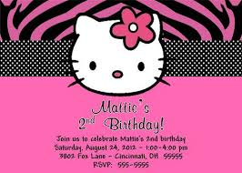 Hello Kitty Birthday Party Invitations Without Photo Free