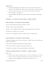 job performance evaluation loan officer assistant job description