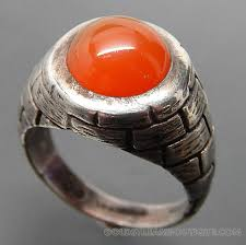 NATIVE AMERICAN EUGENE CRAWFORD NAVAJO STERLING SILVER BRICK PATTERN  CARNELIAN RING - SIZE 7.25 | Carnelian ring, Rings, Ring size