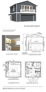 Balcony Over Garage Design Garage Plans Two Car Two Story Garage With Apartment And