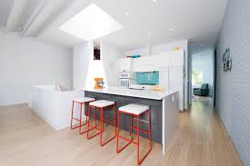 Industrial Kitchen Flooring Bathroom Industrial Kitchen Plus Counter Stools And Gray Island
