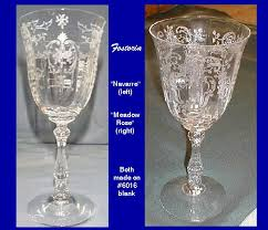 Fostoria Crystal Patterns Interesting Our House Antiques Misidentified Or Easily Mistaken Elegant