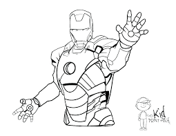 Avengers Infinity War Iron Man Coloring Pages Realistic Sheet Pretty