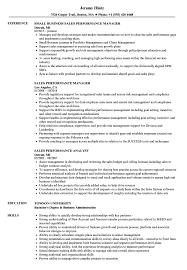 Sales Performance Resume Samples Velvet Jobs
