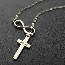infinity cross necklace. infinity cross name necklace n