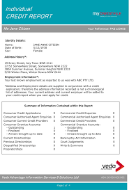 Sample Credit Report - Template Free Download | Speedy Template